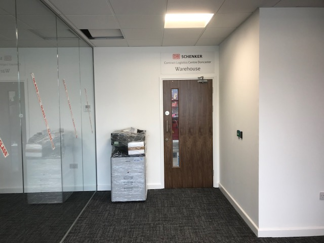 glass office partitioning installation