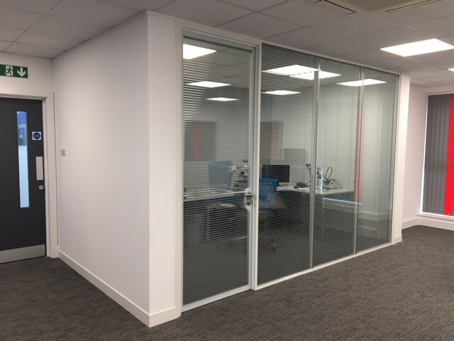 glass office partitions installer